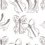 Seamless pattern for womam. Stock Photography