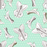 Seamless pattern for womam. Royalty Free Stock Photography