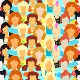 Seamless pattern of woman, girl japan, punk, emo, teacher. vecto. Seamless pattern  woman, girl japan, punk, emo, teacher vector illustration Royalty Free Stock Image
