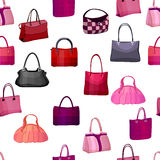 Seamless pattern with woman's bags. Royalty Free Stock Image