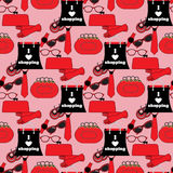Seamless pattern from women accessories. Royalty Free Stock Photos
