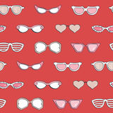 Seamless pattern, Women fashion sunglasses  set Royalty Free Stock Photo