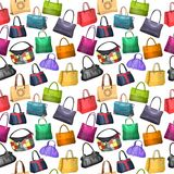 Seamless pattern with women's bags Stock Photography