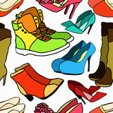 Seamless pattern of women's shoe color. vector illustration Royalty Free Stock Photography