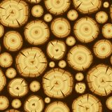 Seamless pattern with wood stumps. Background for forestry and lumber industry.  Royalty Free Stock Photo