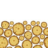 Seamless pattern with wood stumps. Background for forestry and lumber industry.  Stock Photos
