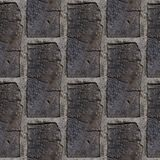 Seamless pattern of wooden bricks wall. Seamless pattern with fragment of wooden bricks wall for design or matte painting royalty free stock photo