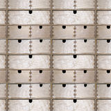 Seamless pattern of wooden drawers Stock Photography