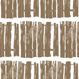 Seamless pattern of wooden fences Royalty Free Stock Photography