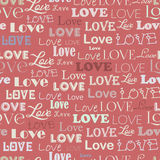 Seamless pattern with word love Stock Photos