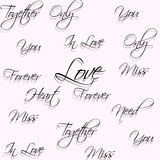 Seamless pattern with words of love. Royalty Free Stock Image