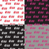 Seamless pattern words love and hearts Stock Image