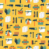 Seamless pattern working tools icons. Home repair Royalty Free Stock Photo
