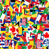 Seamless pattern with world's flags Royalty Free Stock Image