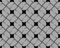 Vector quadratic seamless pattern of woven fiber. stock illustration