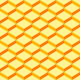Seamless-pattern-wrapping-paper-yellow-background. Abstract orange geometric patterns background. Seamless designs can be used for wallpaper, pattern fills, web vector illustration
