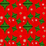 Seamless Pattern Xmas Eiffel tower Royalty Free Stock Image