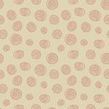 Seamless pattern - yarn balls Royalty Free Stock Images
