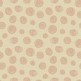 Seamless pattern - yarn balls. Yarn balls abstract background seamless pattern Royalty Free Stock Images
