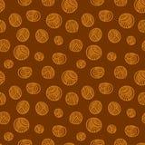 Seamless pattern - yarn balls. Yarn balls abstract background seamless pattern Royalty Free Stock Photos