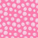 Seamless pattern - yarn balls. Yarn balls abstract background seamless pattern Stock Photo