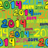 Seamless pattern 2014 year Royalty Free Stock Photo