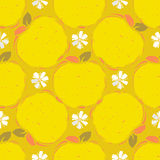 Seamless pattern of yellow apple Stock Image