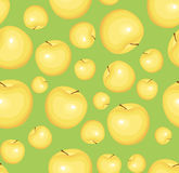 Seamless pattern with yellow apples. Vector illust Royalty Free Stock Photos
