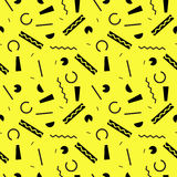Seamless pattern on yellow background Royalty Free Stock Photography