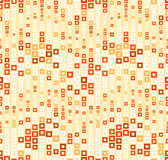 Seamless pattern on yellow background. Has the shape of a wave. Consists of through geometric elements. Royalty Free Stock Image
