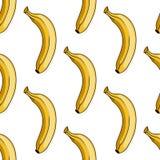 Seamless pattern of  yellow banana Stock Photo