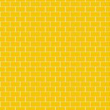 Seamless pattern of Yellow brick wall. For background Royalty Free Stock Photos