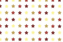 Seamless pattern with yellow and brown color stars on white back. Ground for postcards, wallpaper, papers, textiles, bed linen Royalty Free Stock Photography