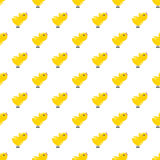 Seamless pattern with yellow chickens. Baby background. Rooster Royalty Free Stock Photo