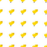 Seamless pattern with yellow chickens. Baby background. Rooster symbol New Year 2017 Stock Photos