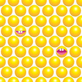 Seamless pattern with yellow circles Royalty Free Stock Photos