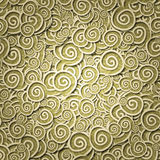 Seamless pattern yellow curles Stock Photography