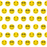 Seamless pattern with yellow emoticons. Royalty Free Stock Photos