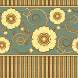 Seamless pattern with a yellow flowers Stock Images