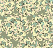 Seamless pattern with yellow flowers Royalty Free Stock Images