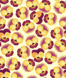 Seamless pattern with yellow flowers Stock Image