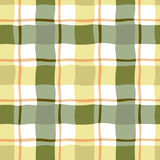 Seamless pattern of yellow and green checkered. Stock Photography
