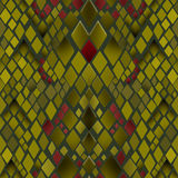 Seamless pattern of yellow and green snake skin Royalty Free Stock Image