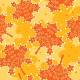 Seamless pattern yellow leaves. Stock Photography