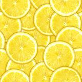 Seamless pattern of yellow lemon slices Royalty Free Stock Photo
