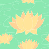 Seamless pattern with yellow lilies. Vector illustration Royalty Free Stock Photography