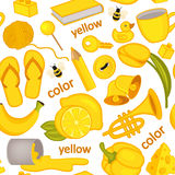 Seamless pattern with yellow objects Royalty Free Stock Image