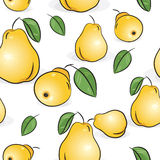 Seamless pattern - Yellow pears Stock Images