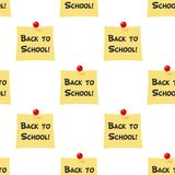 Back to School Post It Seamless Pattern Royalty Free Stock Photos