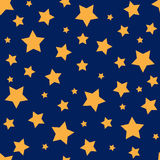 Seamless pattern with yellow stars. Vector seamless pattern with yellow stars Royalty Free Stock Images